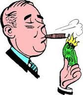 rich guy smoking cigar